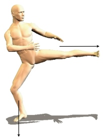 powerful kick